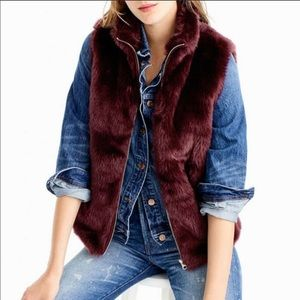 Jcrew faux fur vest size medium. Perfect condition